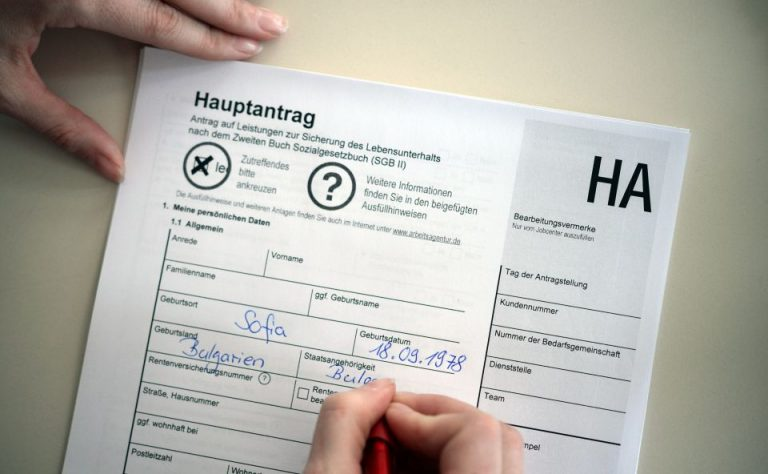 Hartz-IV-Antrag