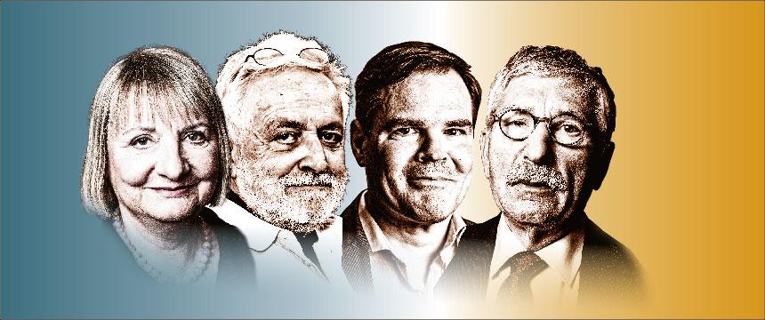 Vera Lengsfeld, Henryk M. Broder, Uwe Tellkamp, Thilo Sarrazin