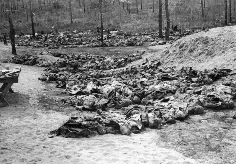 Exhumierte Körper polnischer Offiziere bei Katyn