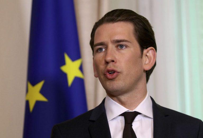 Der österreichische Kanzler Kurz in Wien