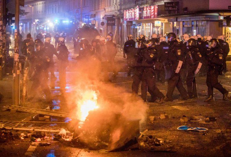 Polizisten in Hamburg während der G-20-Ausschreitungen
