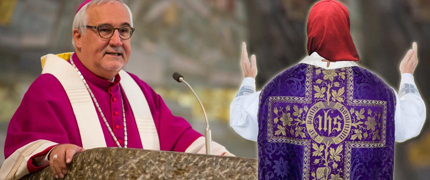 Bischof Gebhard Fürst (l.)