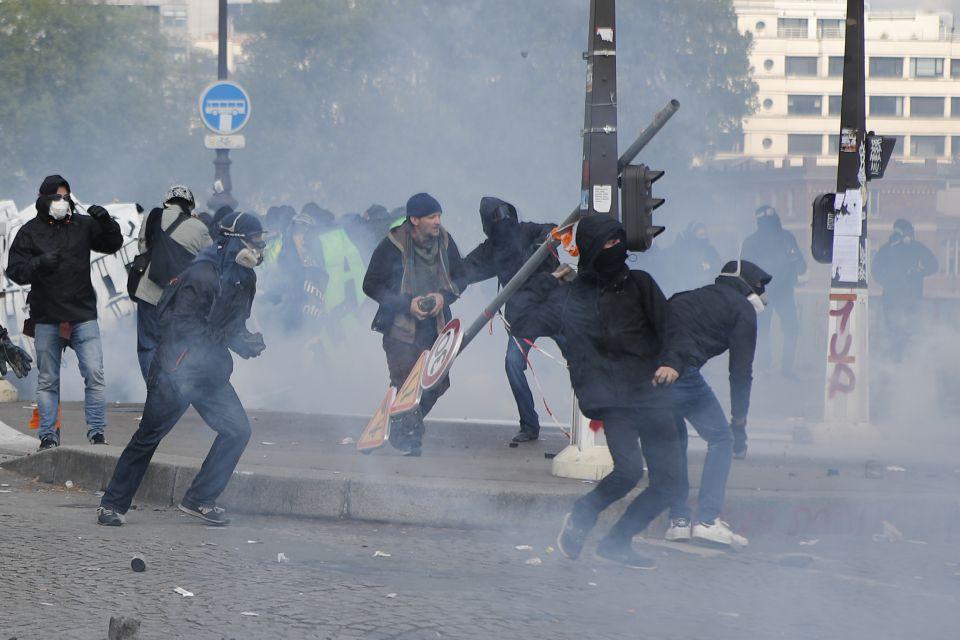 Linksextremisten in Paris
