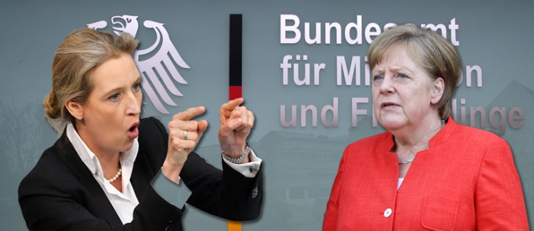 Alice Weidel und Angela Merkel