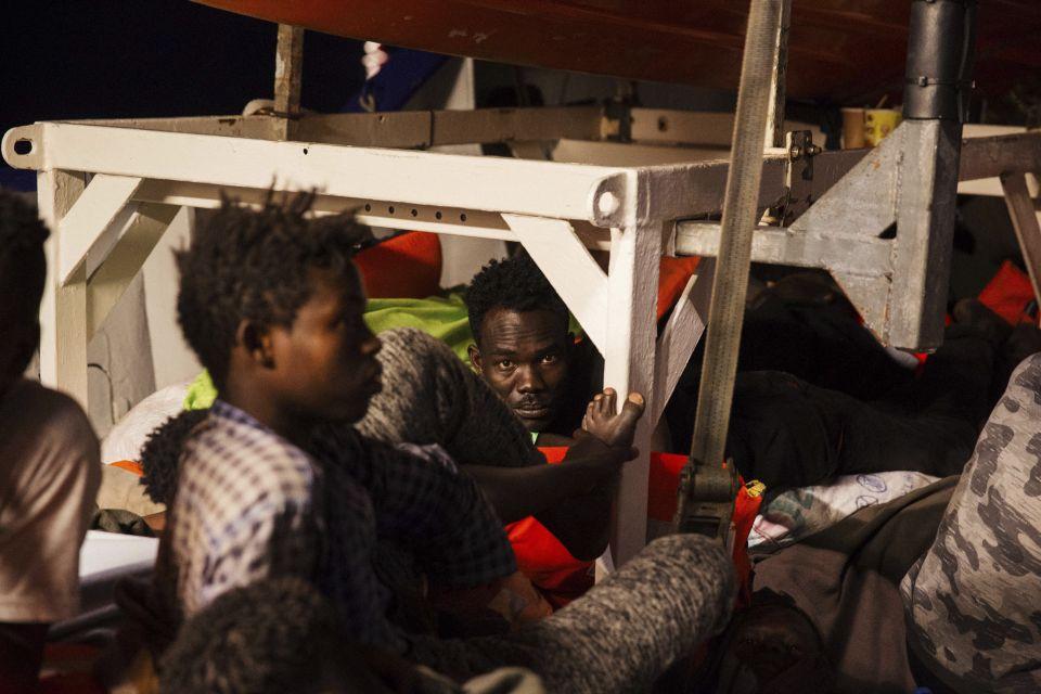Afrikaner auf dem Flüchtlingsschiff Lifeline
