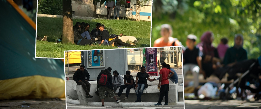 Asylsuchende in Sarajevo