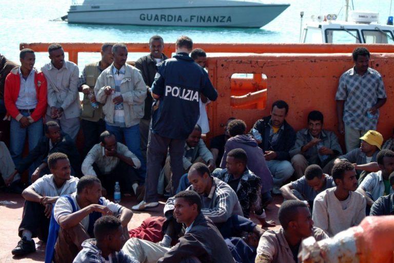 Einwanderer in Pozzallo