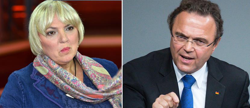 Claudia Roth und Hans-Peter Friedrich