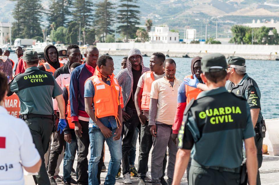Flüchtlinge erreichen Spanien