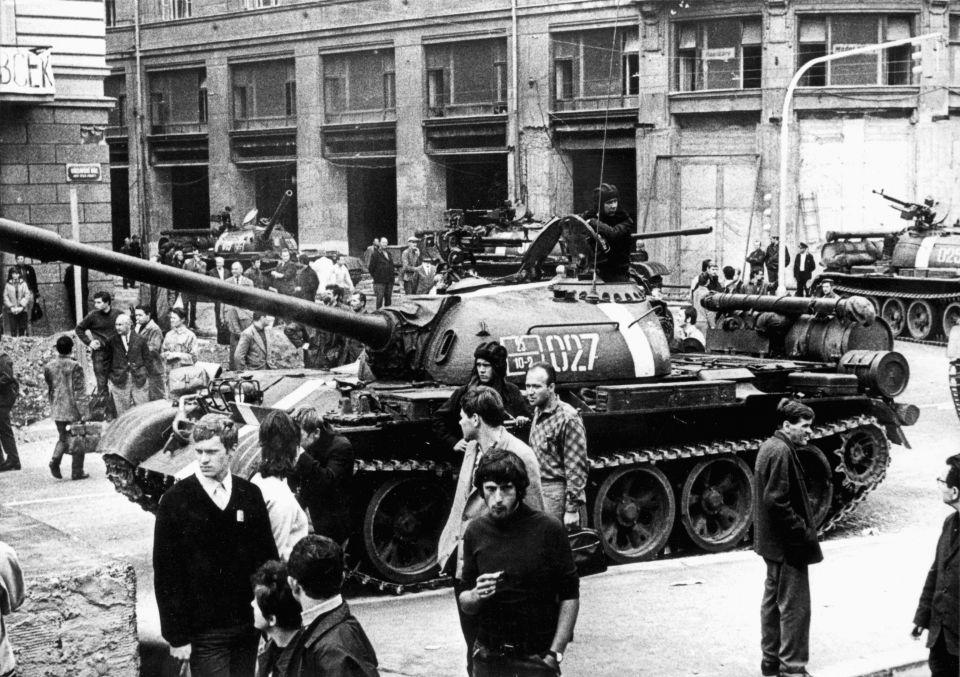 Einmarsch der Truppen des Warschauer Paktes