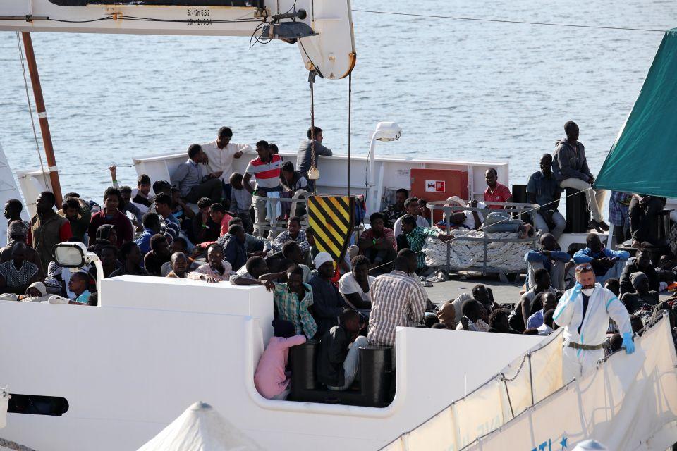 """Flüchtlinge auf der """"Diciotti"""""""