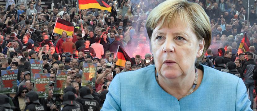 Angela Merkel: Verurteilt Ausschreitungen