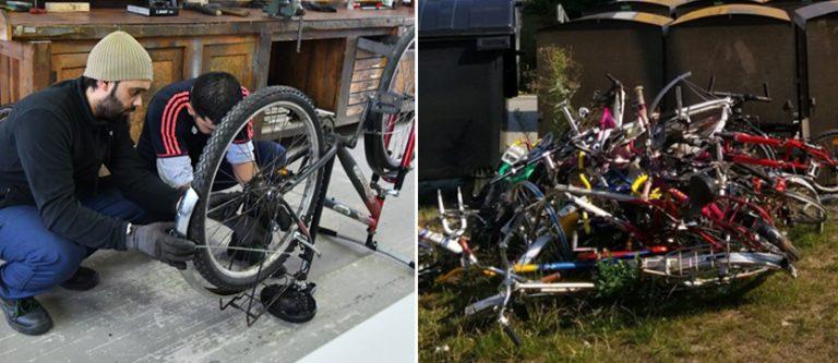 Radmechaniker / Schrotthaufen