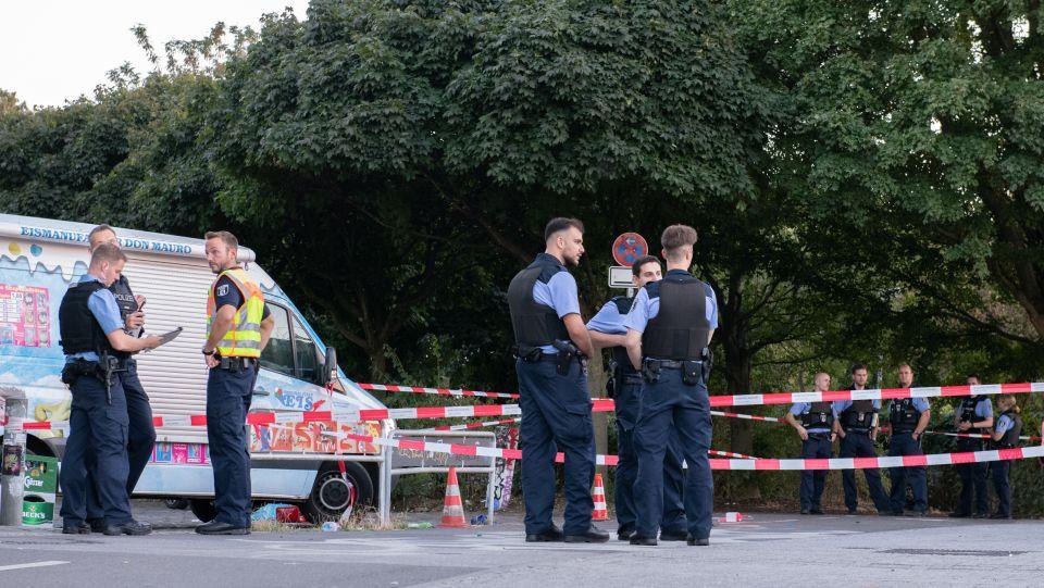 Polizei am Tempelhofer Feld