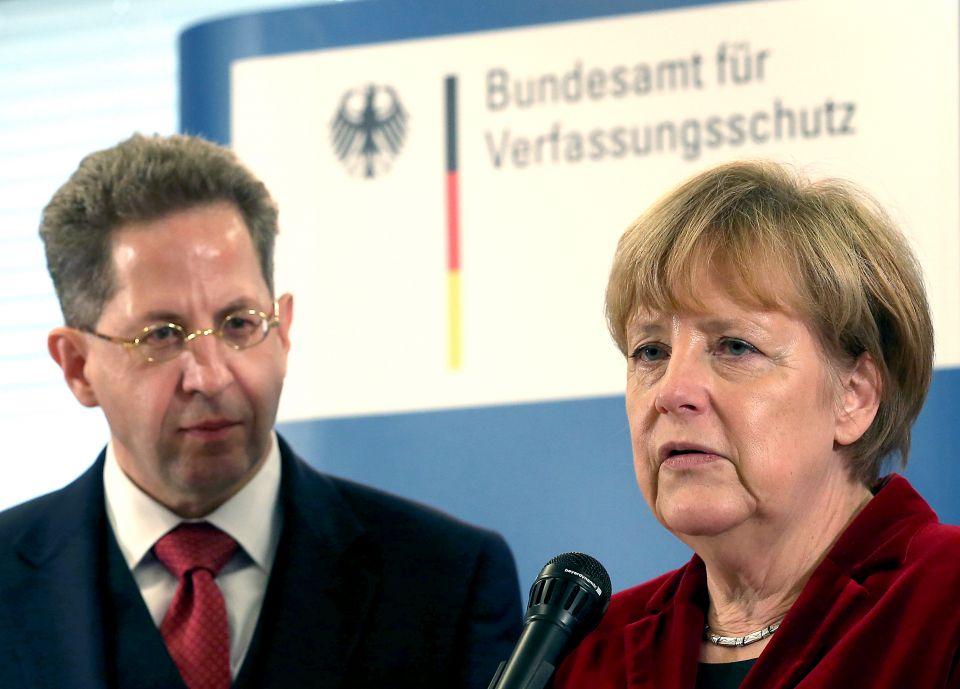 Hans-Georg Maaßen und Angela Merkel