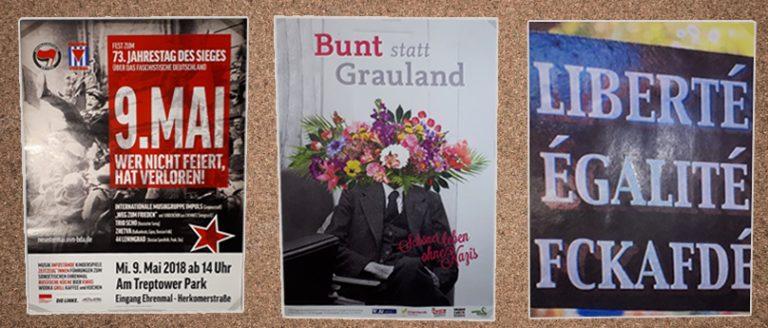 Plakate im Bundestag