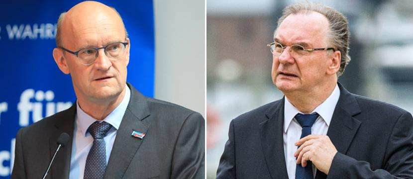 Frank Pasemann (l.) und Reiner Haseloff