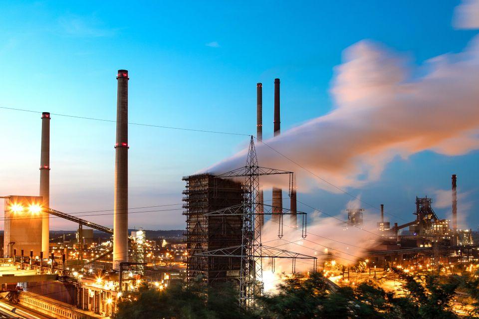 Stahlwerk von ThyssenKrupp