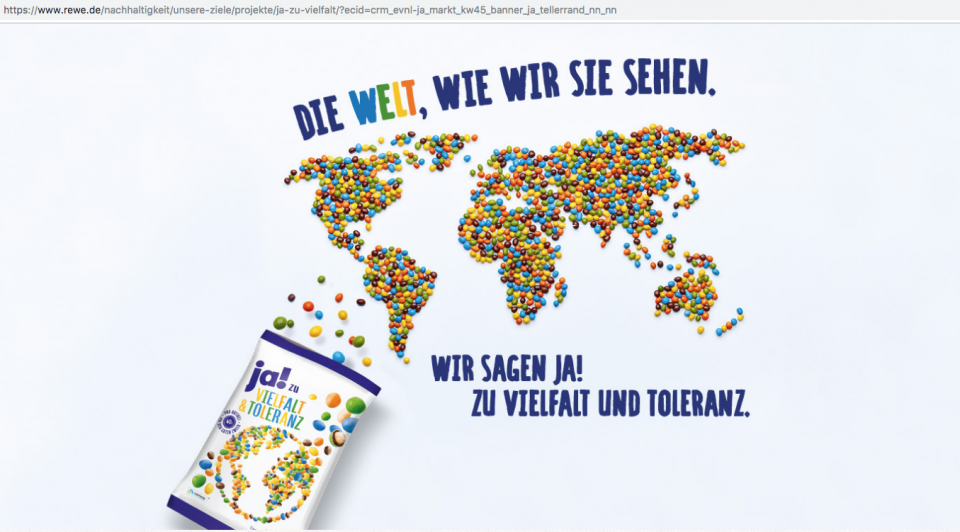 rewe-Kampagne. Quelle: https://assets.jungefreiheit.de/2018/11/Bildschirmfoto-2018-11-08-um-15.37.44.png
