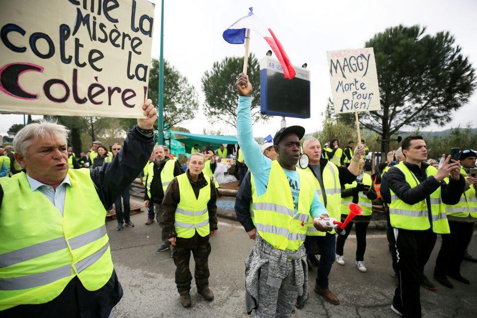 Gelbwesten-Protest
