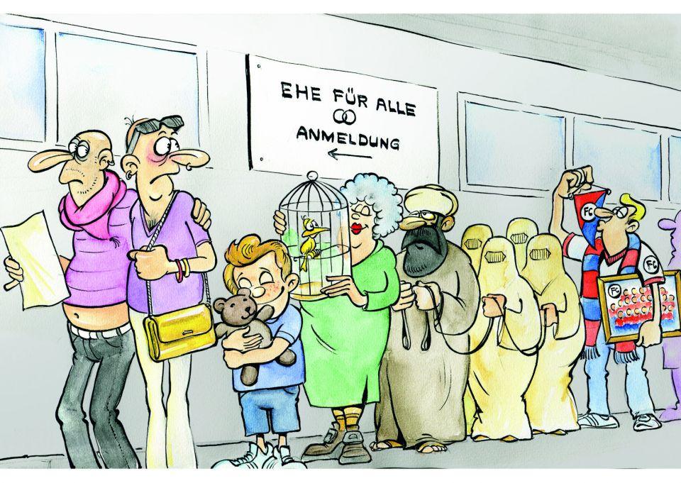 Postkarten_Karikatur_Ehe-fuer-alle
