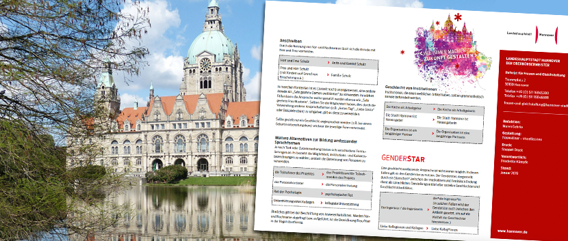 Rathaus Hannover, Gender-Empfehlung