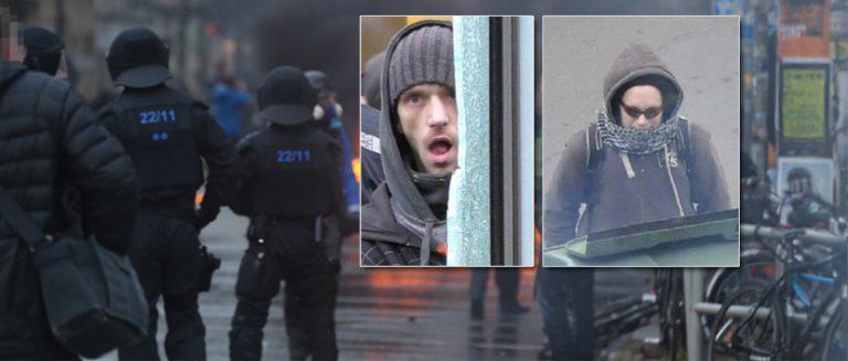 Krawalle in Leipzig: Polizei fahndet nach zwei Verdächtigen