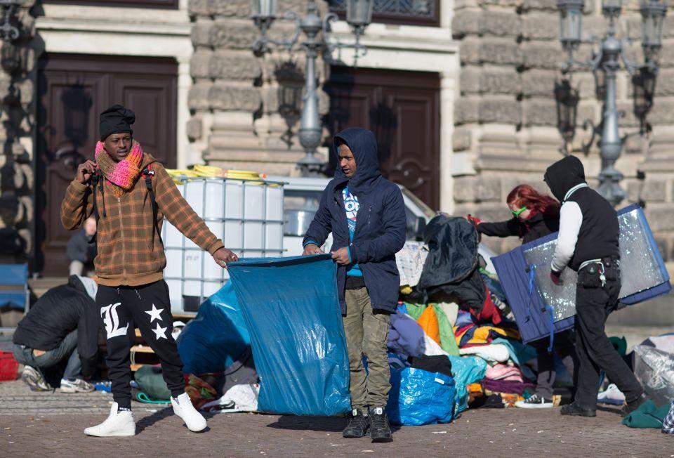 Asylsuchende in Dresden