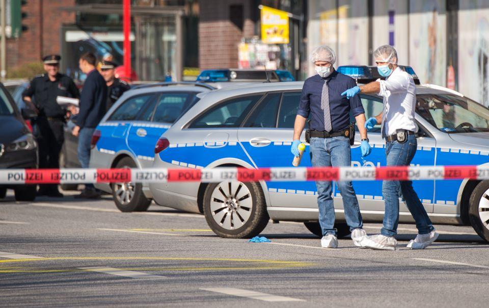 Polizei sichert Tatort