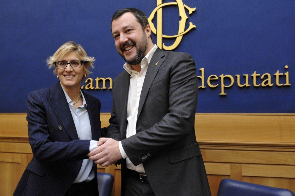 Giulia Bongiorno und Matteo Salvini