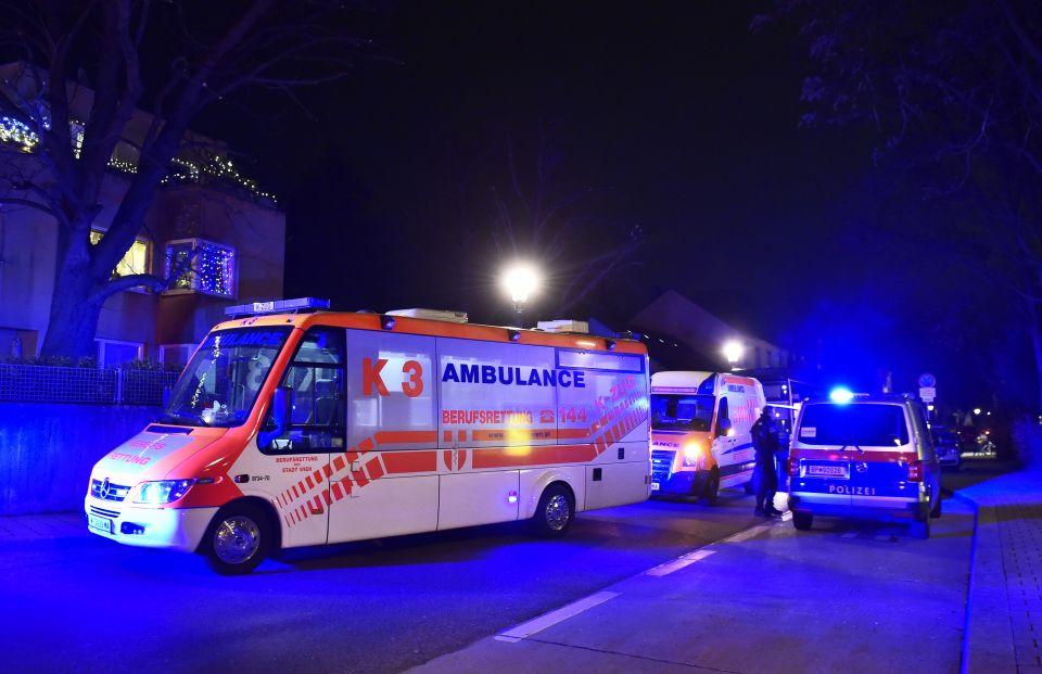 Einsatzkräfte in Wien