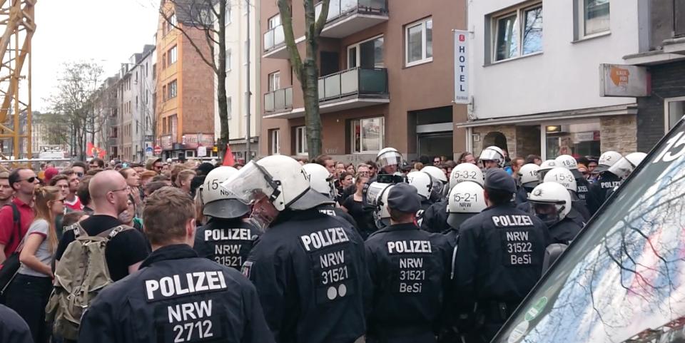 Demonstration gegen AfD-Veranstaltung