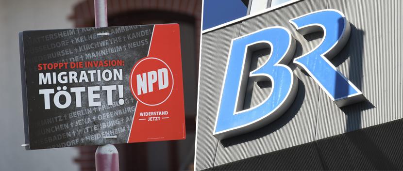 NPD-Plakat / BR-Logo