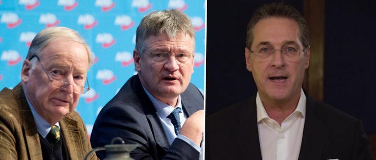 Alexander Gauland, Jörg Meuthen und Heinz-Christian Strache