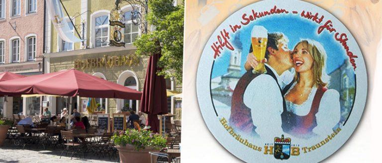 Hofbräuhaus Traunstein, Bierdeckel