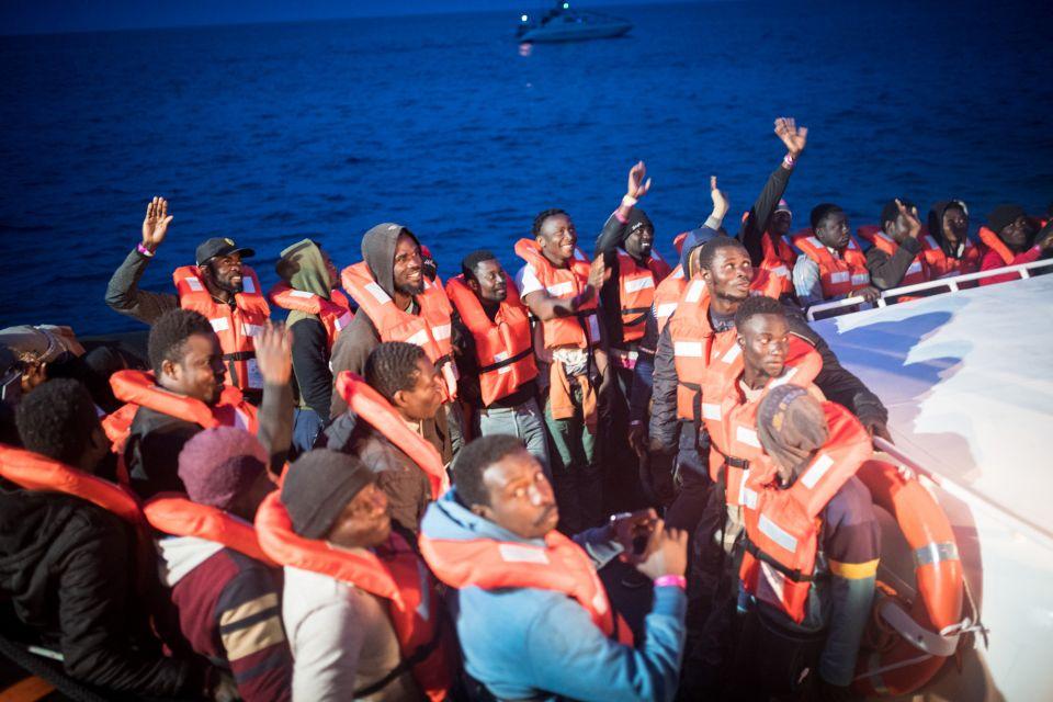 Zuwanderer auf der Sea-Watch 3