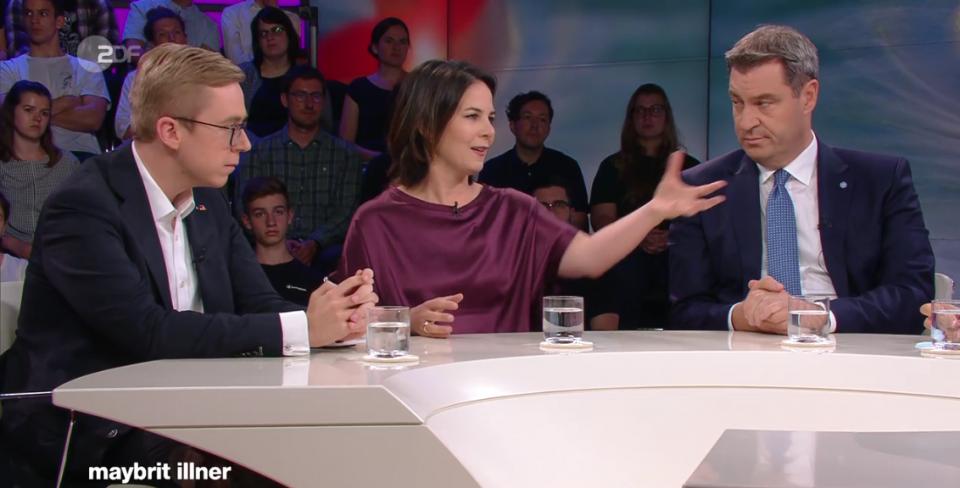 Philipp Amthor, Annalena Baerbock und Markus Söder