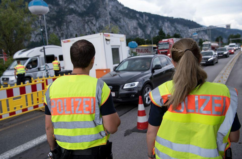 Grenzkontrolle in Kiefersfelden