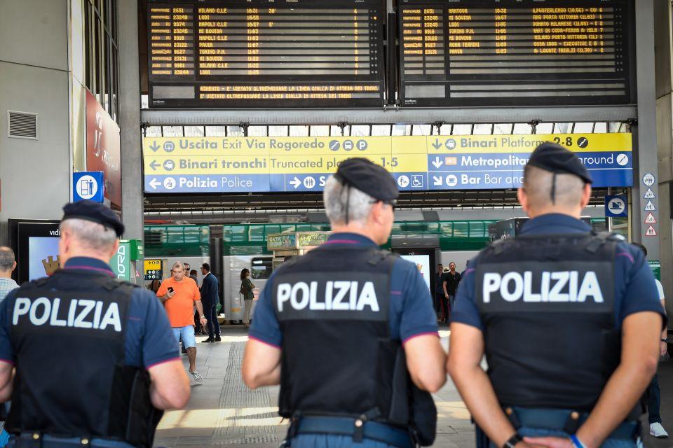 Polizei in Mailand (Archivbild) Foto: picture alliance/ZUMA Press