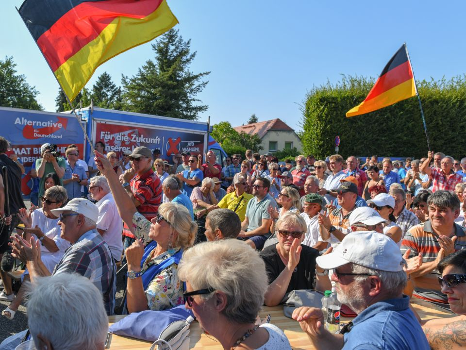 Wahlkampf der AfD in Brandenburg