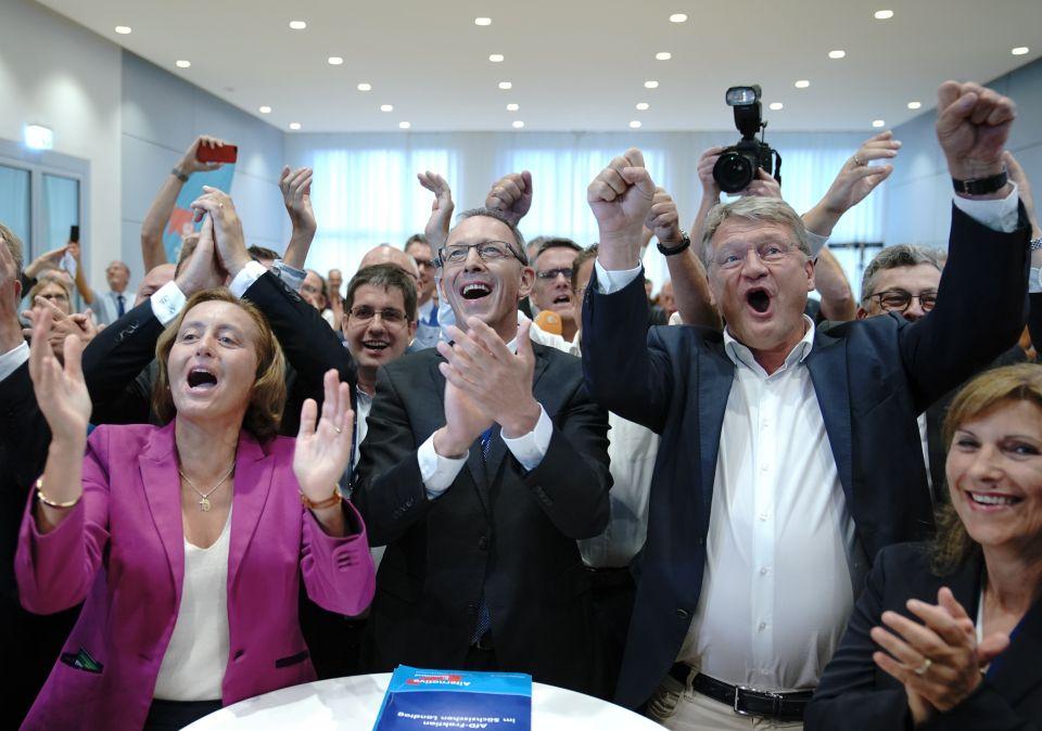 AfD jubelt über Ergebnis bei Sachsenwahl
