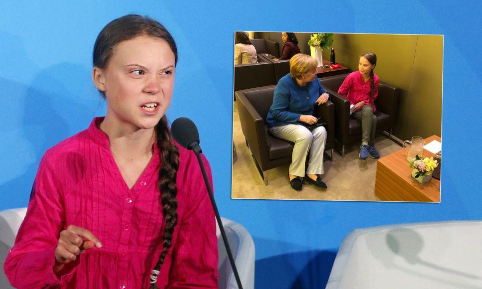 Greta Thunberg, Angela Merkel (CDU)