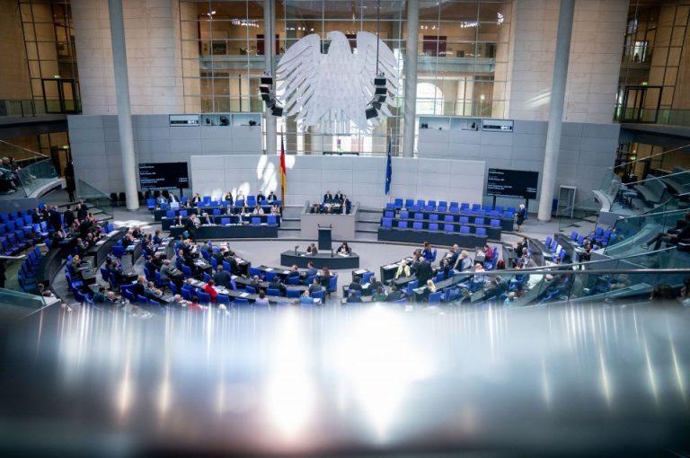 Plenarsaal im Bundestag
