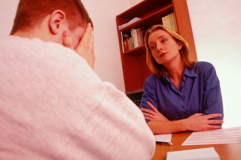 Beim Psychotherapeuthen