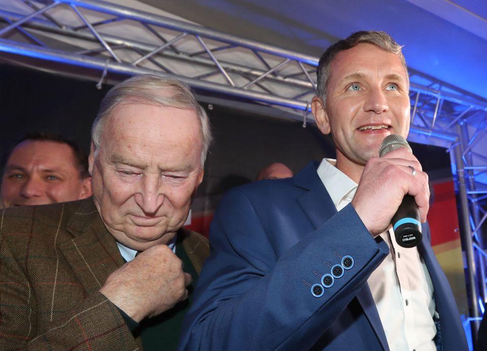 AfD-Chef Alexander Gauland und AfD-Spitzenkandidat Björn Höcke