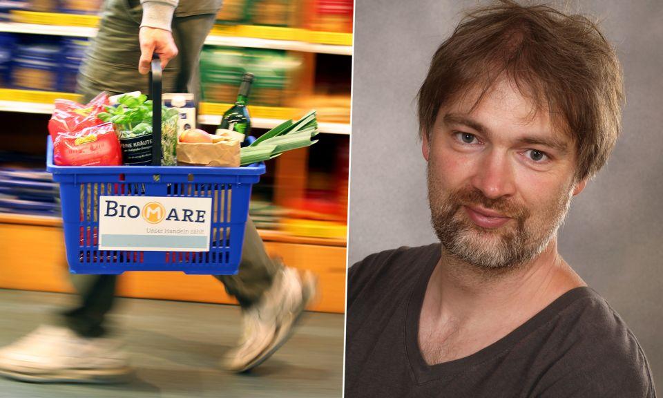 Malte Reupert, Chef der Bio-Supermarktkette Biomare Fotos: dpa / privat / JF-Montage