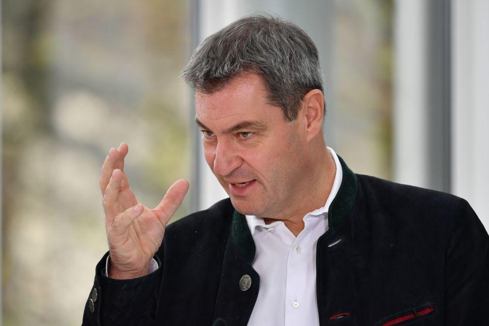 """CSU-Chef Markus Söder: Er fordert, die """"Querdenken-Bewegung"""" vom Verfassungsschutz utner die Lupe nehmen zu lassen"""