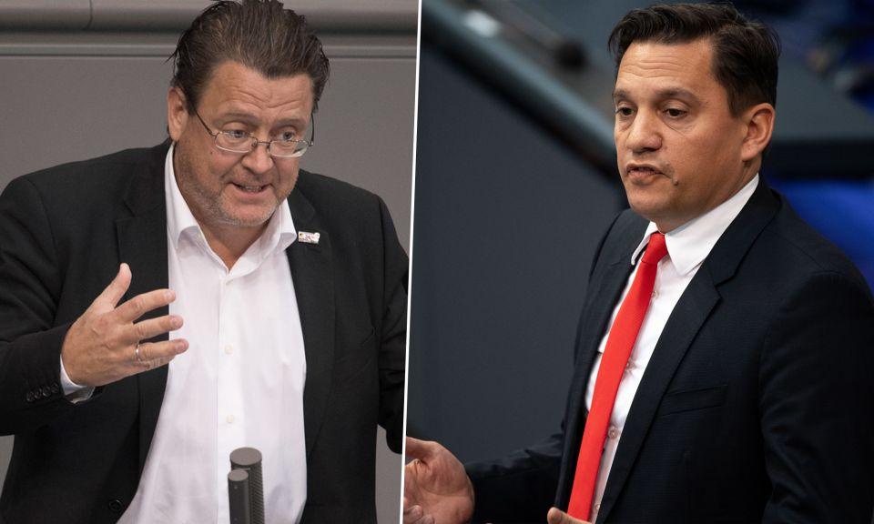 Stephan Brandner (AfD), Johannes Fechner (SPD)