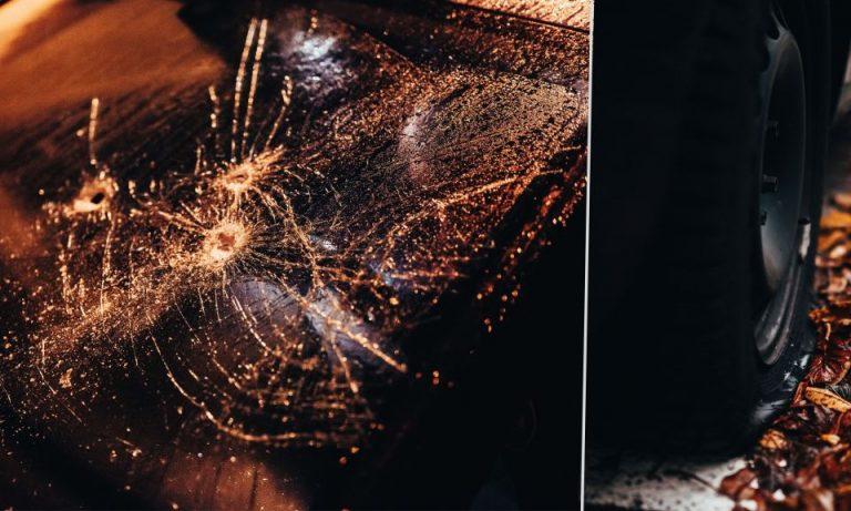 Anschlag auf auto von Kaupert