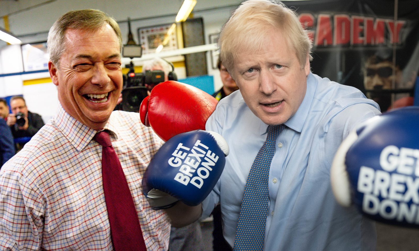 Nigel Farage (l.) und Boris Johnson